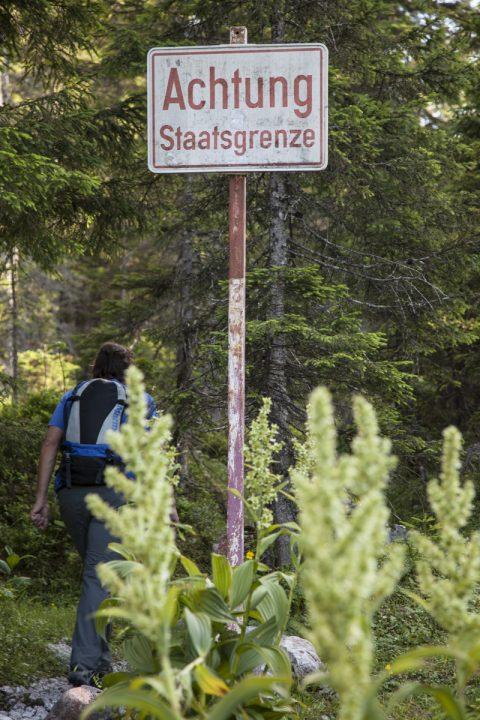 Landesgrenze zwischen Bayern und Tirol