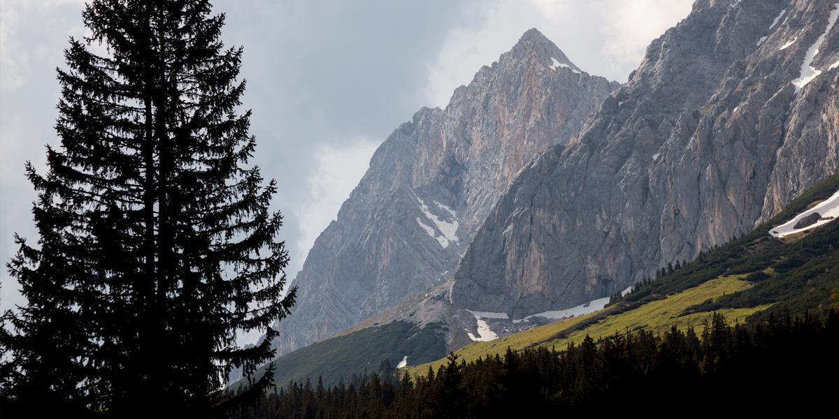 Südflanke des Wetterstein Gebirges