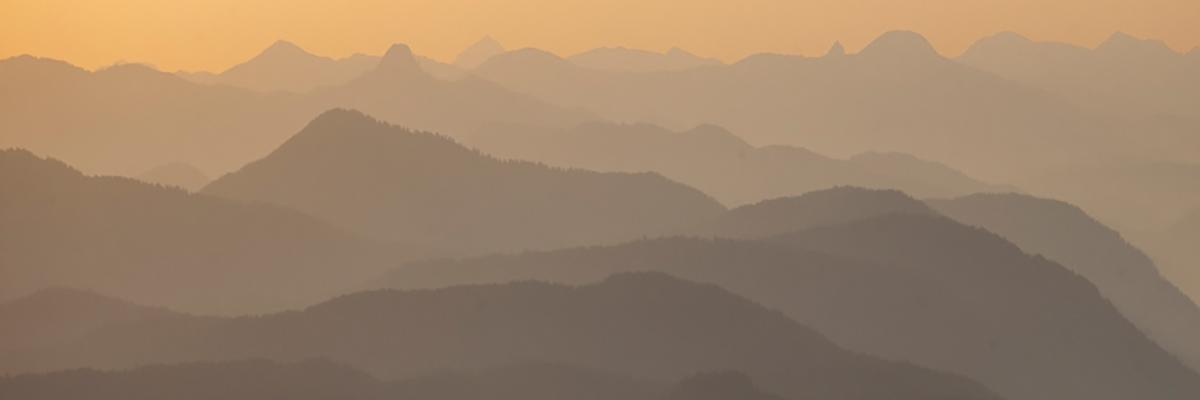 Blick vom Wank auf das Mangfallgebirge