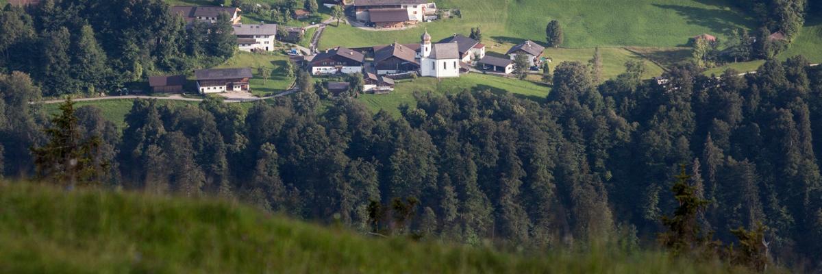 Blick auf Wamberg im Werdenfelserland